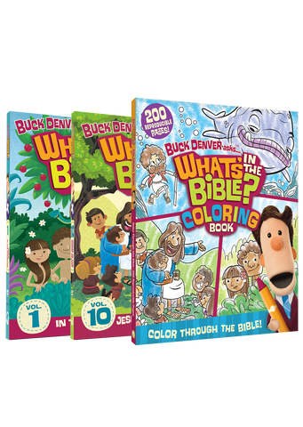 DVD 1, DVD 10, and What's In The Bible? Coloring Book