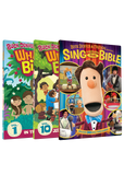 DVD 1, DVD 10, and Sing Through The Bible DVD