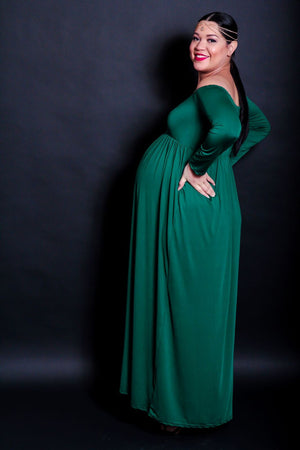 Fantasy Green Long Sleeve Dress