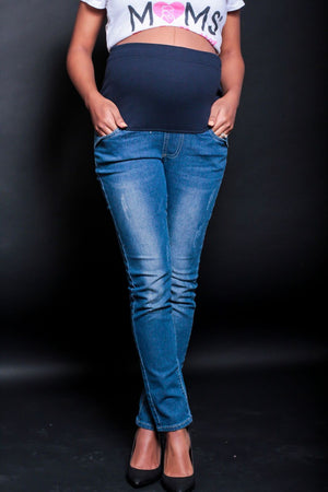 Maternity Ankle Skinny Denim Leggings