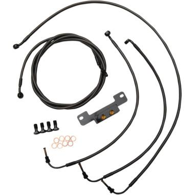 2017-2018 Touring Models NO ABS & Hydraulic Clutch 12-14'' Black Braided