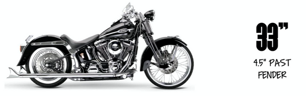 Samson True Duals Softail Exhaust Package 2007-2011 Softail