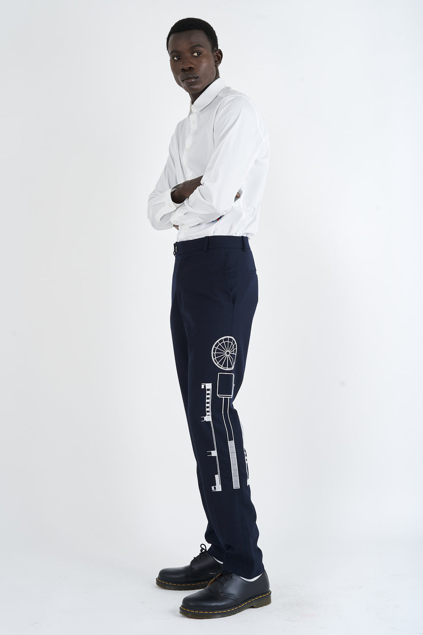 Embroidered Tailored Pant
