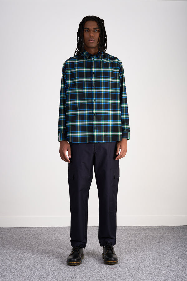 "Oversized Shirt ""Electric Check"""
