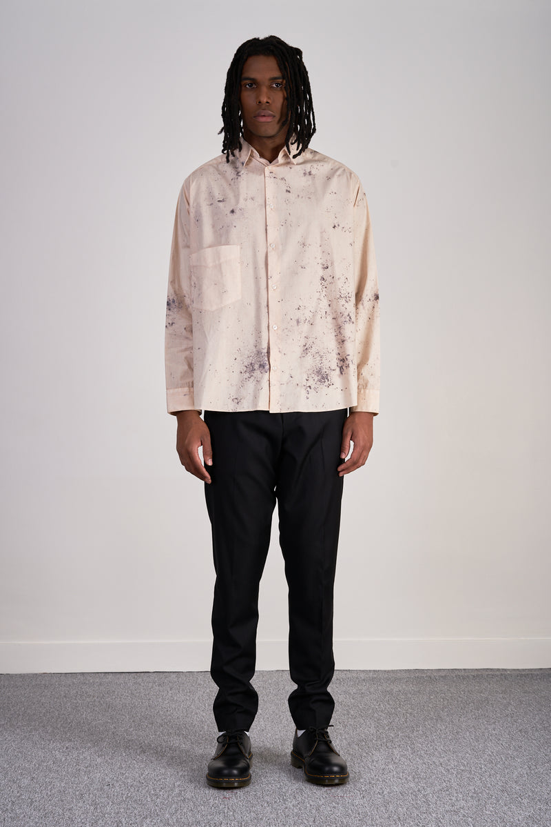 Oversized shirt Natural Tie and Dye