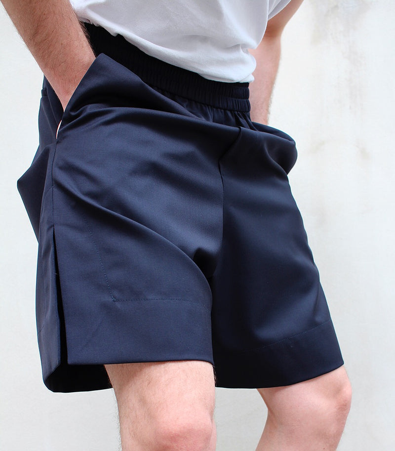 Oversized Elastic Shorts