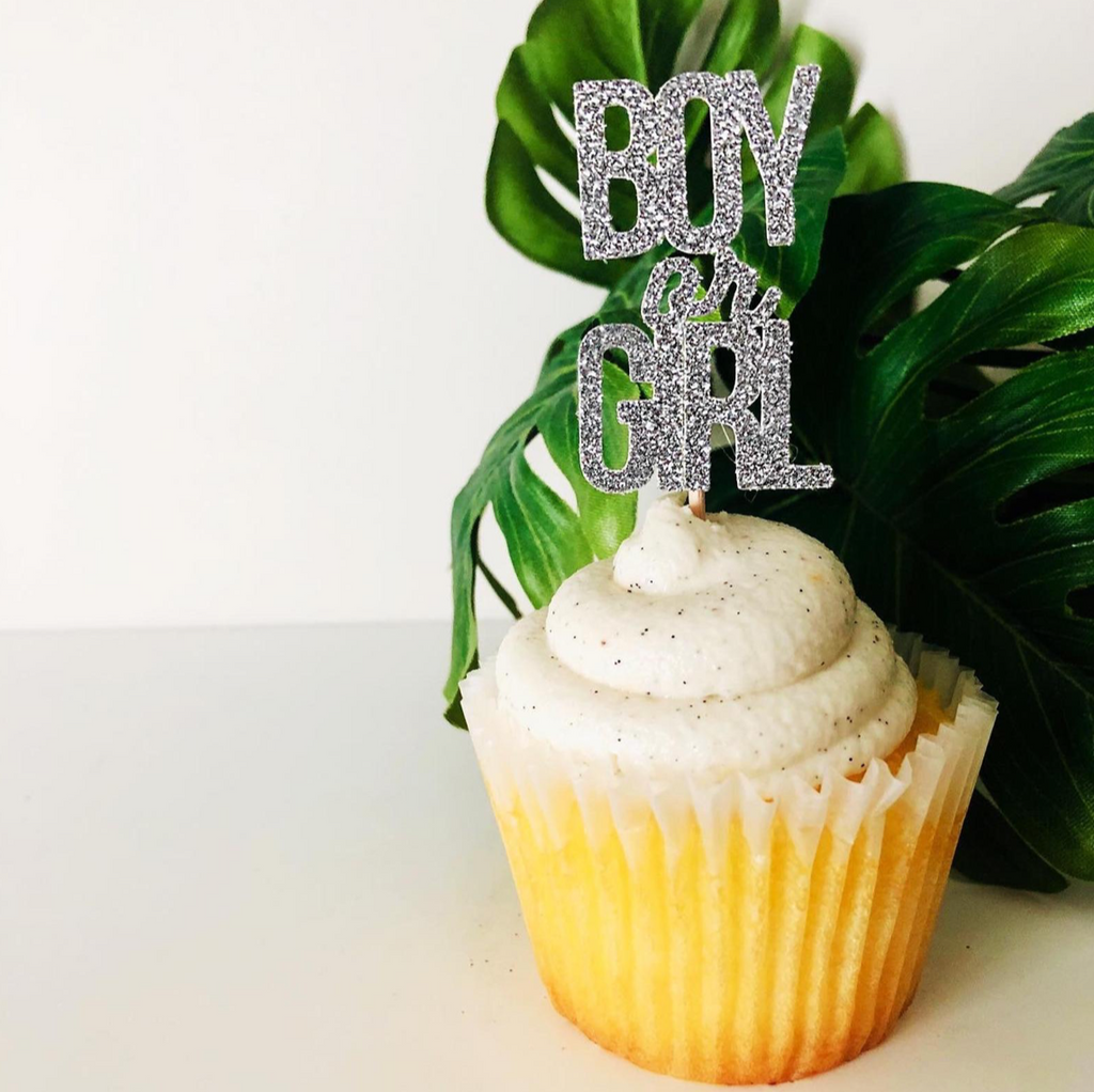 Boy or Girl Cupcake Topper