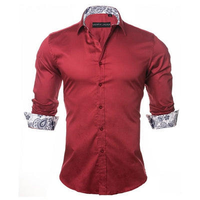 2019 New Arrivals Fashion Shirt 100% Cotton Red | 2019 Chemise manches longues 100% Coton Rouge