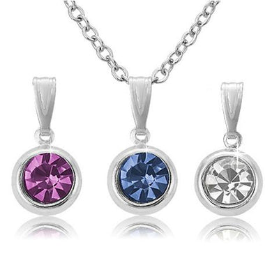 Three Color Pendant Set