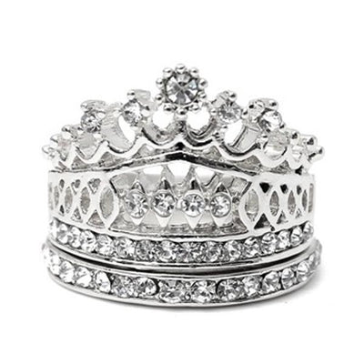 Imperial Crown Crystal Ring