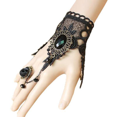 Bold Enchanting Ring-to-Wrist Bracelet