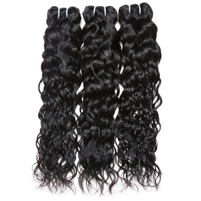 Brazilian water wave Virgin Human Hair 3 Bundles | Vague d'eau brésilienne cheveux vierges 3 faisceaux