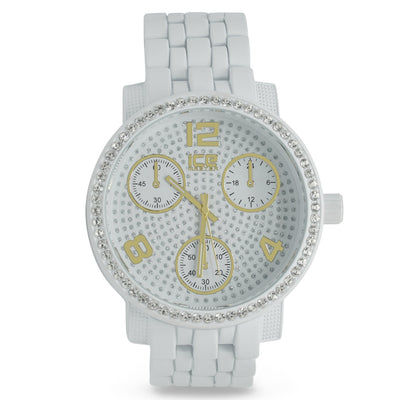 White Classic Crystal Watch