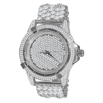 Full CZ and Crystal Watch
