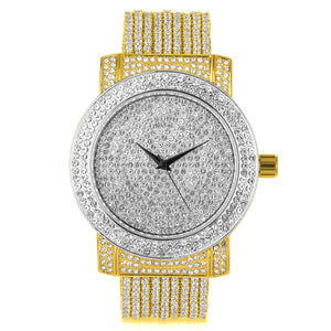 Gold & Silver Watch Full of Crystals