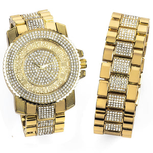 Set Watch/Bracelet 14K Yellow Gold 47mm