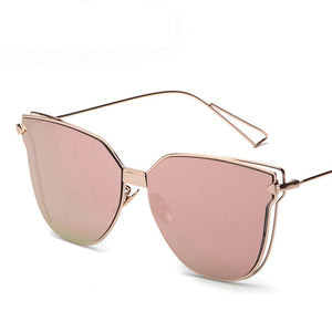 Sunglasses vintage mirror flat panel Lens protection UV400