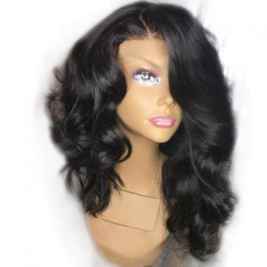 Peruvian Loose Wave Human Hair Lace Frontal Wig 1pc/lot | Perruque frontale en dentelle de cheveux humains péruvienne lâche 1pc / lot