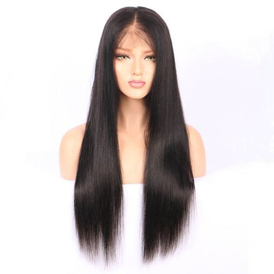 Easy Natural Human Hair line Virgin Straight Full Lace Wig 1pc/lot