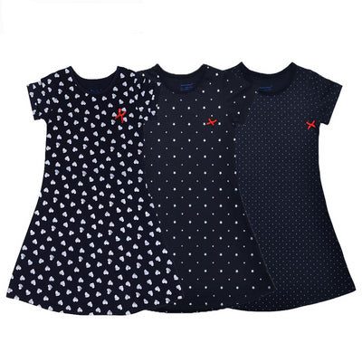 100% Cotton Summer Print Dresses for Girls