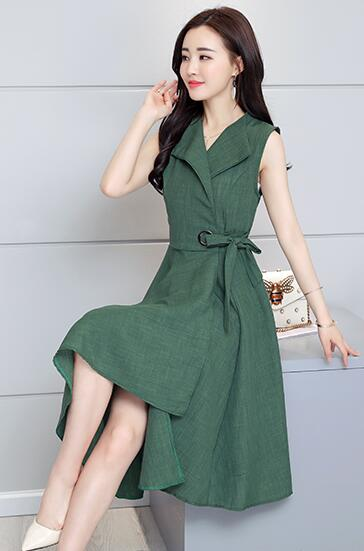 2019 new Elegant Dress Sleeveless for work | 2019 nouvelle élégante robe sans manches pour travail