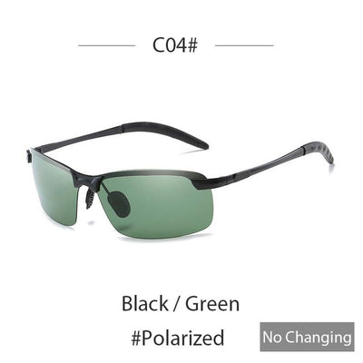 Sunglasses with color changing at driving mirrored polarized day night