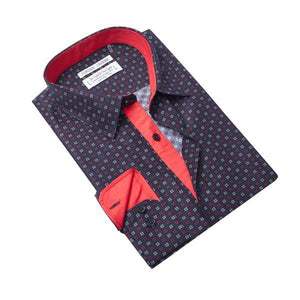 Jordan Jasper - X Wings in Navy Dress Shirt | Jordan Jasper - Chemise X Wings en bleu marine