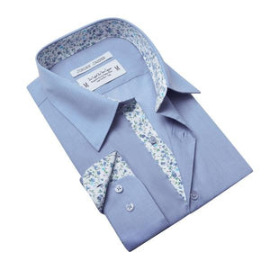 Jordan Jasper - Fairmount in Medium Blue Shirt | Jordan Jasper - Fairmount en chemise bleue moyenne