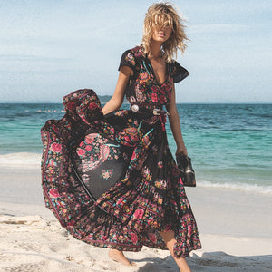 2019 New Women Summer Boho Beach Maxi Dress