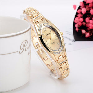 2019 Elegant stainless steel wristwatch with rhinestones