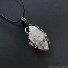 Load image into Gallery viewer, Bold Raw Quartz Pendant | Large Crystal Point Necklace | Wire Wrapped in Copper
