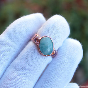 electroformed aquamarine ring