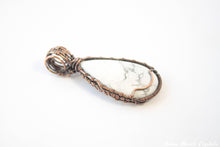 Load image into Gallery viewer, White Howlite Necklace | Woven Wire Wrapped Howlite