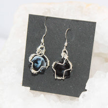 Load image into Gallery viewer, Silver filled Wire Wrappped Earrings