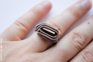 Black Tourmaline Ring | Made to Order Ring| Wire Wrappped Ring