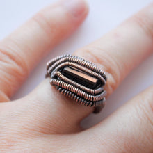 Load image into Gallery viewer, Black Tourmaline Ring | Made to Order Ring| Wire Wrappped Ring