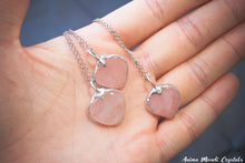 Load image into Gallery viewer, Rose Quartz Pendant | Pink Quartz Heart Necklace