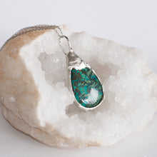 Load image into Gallery viewer, Chrysocolla Pendant | Silver Necklace