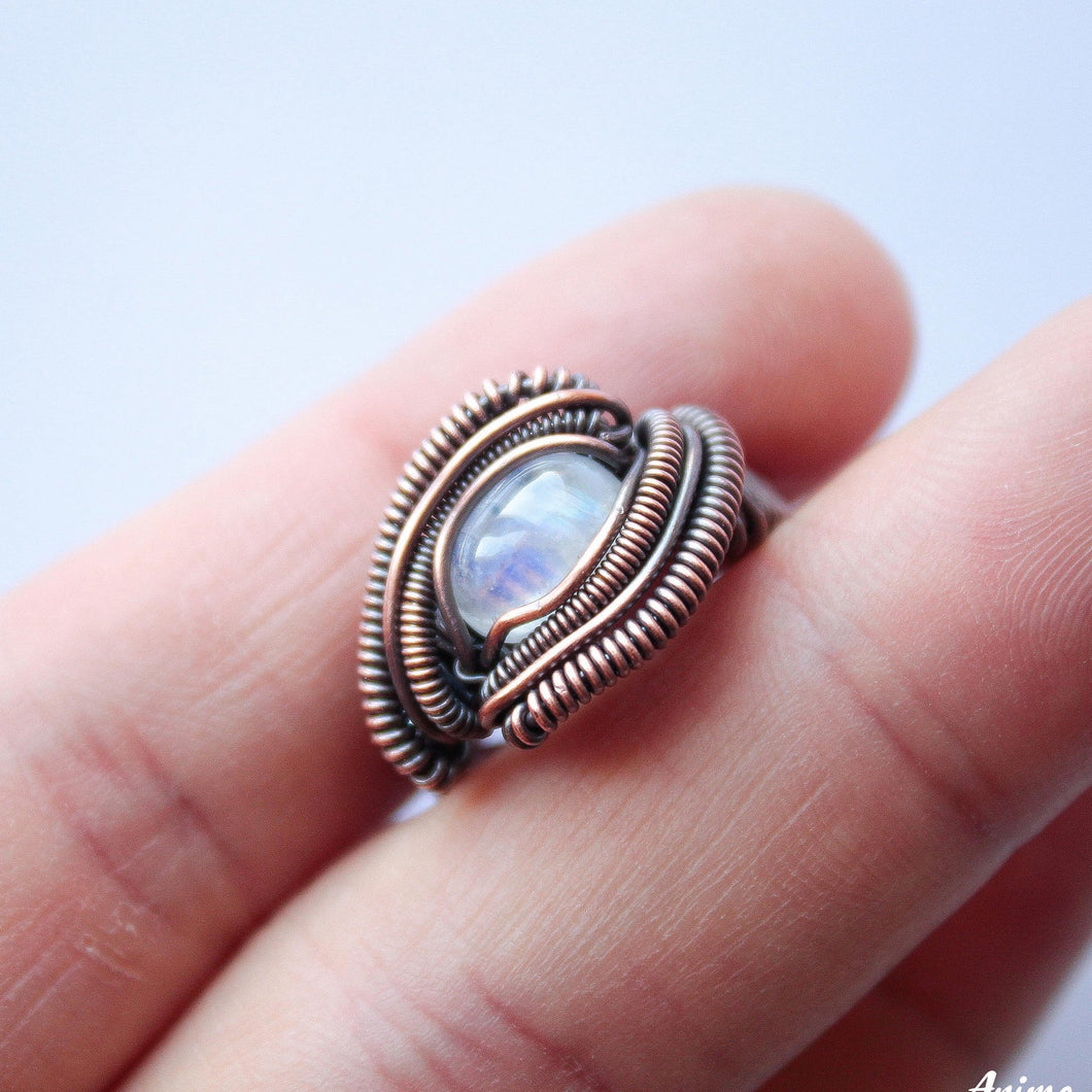 Wire Wrapped Moonstone Ring | Made to Order Ring