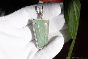 Wire Wrapped Aquamarine Necklace | Sterling Silver Aquamarine Jewelry