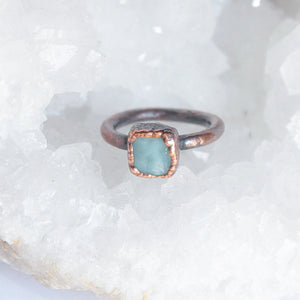 Larimar Midi Ring Size 2.5US | Small Stacking Ring