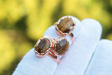 Load image into Gallery viewer, Gold Tiger Eye Ring | Electroformed Copper ring