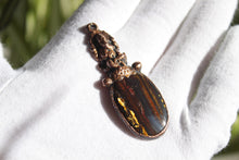 Load image into Gallery viewer, Gold Tiger Eye Pendant | Ganesha Pendant | Spiritual Jewelry