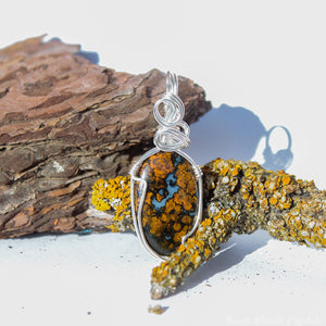 Hungarian Agate Necklace | Agate Crystal Pendant
