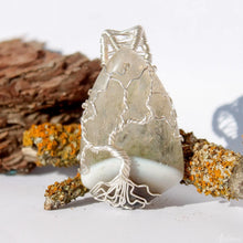 Load image into Gallery viewer, Wire wrapped Tree of life Agate Necklace