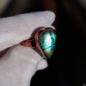 Electroformed Labradorite Ring 9.5US