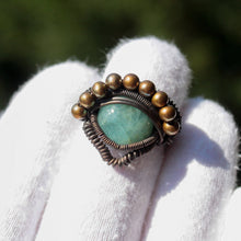 Load image into Gallery viewer, wire wrapped aquamarine ring