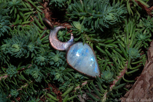Moonstone Pendant | Crescent Moon Crystal Necklace