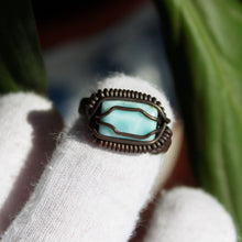Load image into Gallery viewer, wire wrapped larimar ring