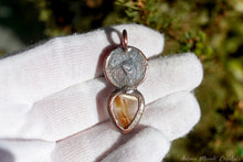 Load image into Gallery viewer, Gold Rutilated Quartz Pendant | Electroformed jewelry | Sun goddess necklace
